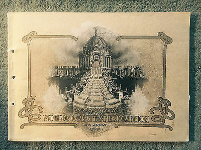 MEMORIES OF THE WORLD'S GREATEST EXPOSITION St. Louis 1904 World's Fair Book