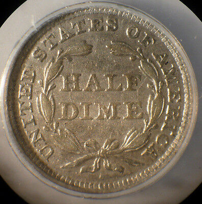 US 1856 H10C Liberty Seated silver Half Dime ANACS graded Fine+ Details