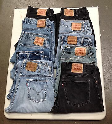 "JOB LOT 10x VINTAGE LEVI STRAUSS JEANS. SIZES 28""-36"". GRADE A/B."