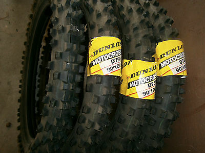 NOS New Motorcycle Tyre Dunlop Sports D756 90 100 20 - 20 inch tyre
