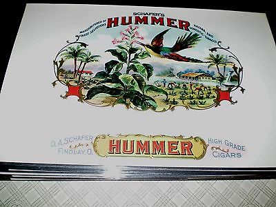 Cigar Box Labels New & Unused SCHAFER'S HUMMER