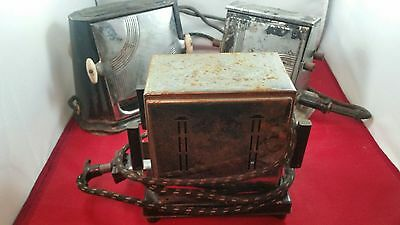 Lot of 3 Vintage Toasters: Empire, Manning-Bowman and Son Chief