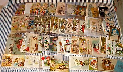 Collection 95 Wheeler & Wilson Sewing Machine Trade Cards, Antique Originals!