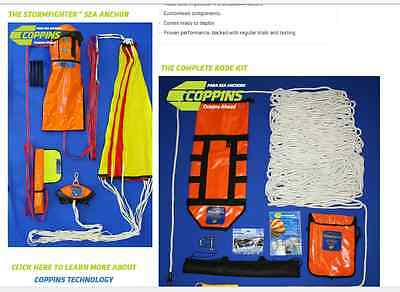 Sea Anchor - Coppins Storm fighter parachute anchor & rode kit