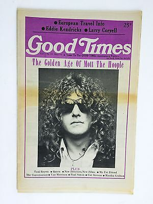 Vintage Good Times NYC rock music newspaper - May 1974 Mott the Hoople cover