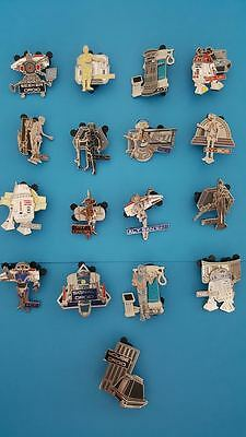 Disney Star Wars Weekends 2015 Limited Mystery Droid Pins *complete Set Of 17*
