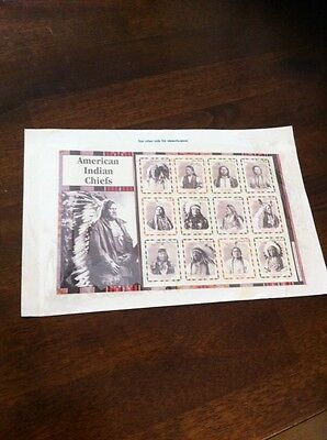 American Indian Chief Mint Stamps
