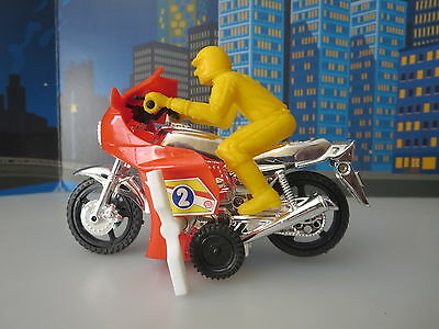 Vintage 1970S Sport Motocycle Wind Up Toy Boxed  By Ace Toys