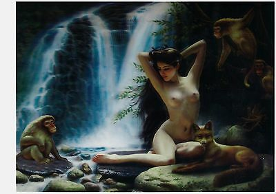 nude girl myth 3D Lenticular raster Holographic Stereoscopic Picture Wall Art