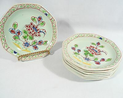 7 Demitasse Saucers ADAMS England CALYX Ware Floral  OLD BOW 5 inch