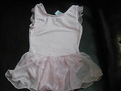 Jacques Moret Girls Dance/gymnastic Skirted Leotard Size Small 6/7 Pink