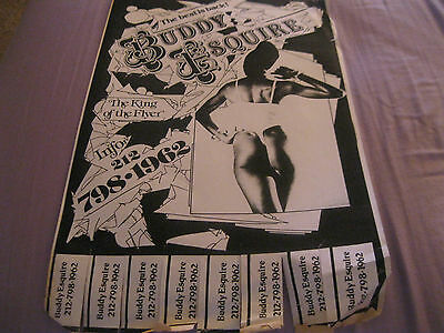 Rare Flyer Black And White Woman Ad By Flyer King Buddy Esq For His Artwork 198?