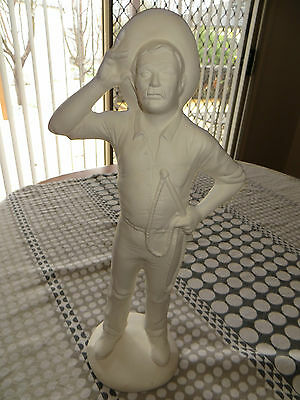 Ceramic Bisque STOCKMAN - Approx 42cm tall - Ready to paint