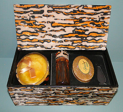 VINTAGE TIGRESS by FABREGE COLOGNE UNOPENED SOAP & BATH POWDER ORIGINAL BOX