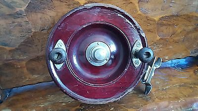 Vintage Alvey wooden fishing reel 13.5 cm size