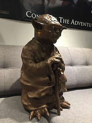 Life-size Resin Cast Yoda Finished In bronze paint