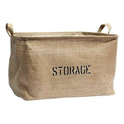 Medium or Large Jute Storage Bin for Toy Storage - Storage Basket for organising