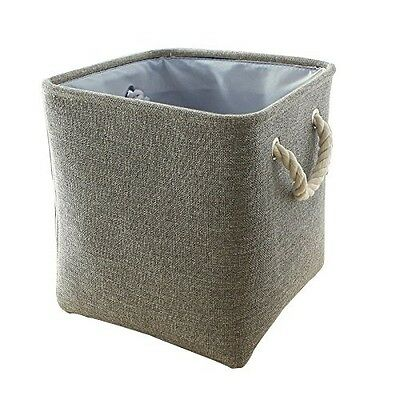 TheWarmHome Square Fabric Laundry Basket for Toy Storage Organiser,Shelves,Playr