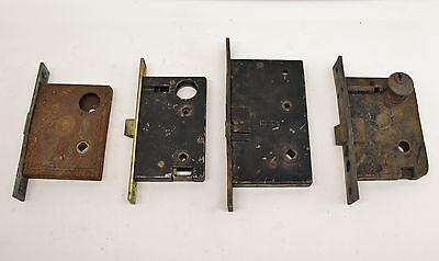 Vintage Lot Of 4 Exterior Door Latches Locks Hardware Corbin National RH Co.
