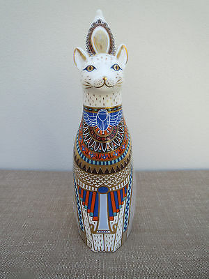 Royal Crown Derby, Large Egyptian Cat, 1986, Luxury Figure, Royal Cats