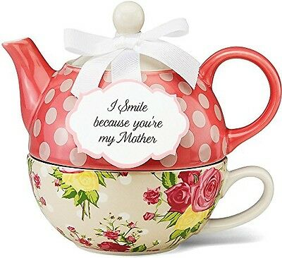 Pavilion Gift Company Pavilion Gift 49005 You and Me Tea for One Teapot Set by