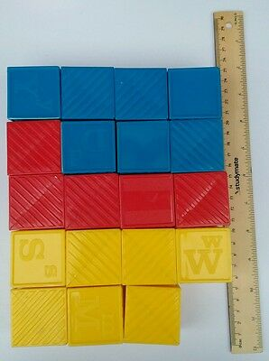 Bulk Vintage Tupperware Tuppertoys Tupper toy busy blocks Red blue yellow