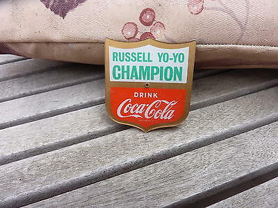 late 60's AUST Russell coca cola yoyo badge