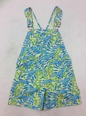 lilly pulitzer Mimosa Everglades Alligator Overall Shorts Girls Size 6x