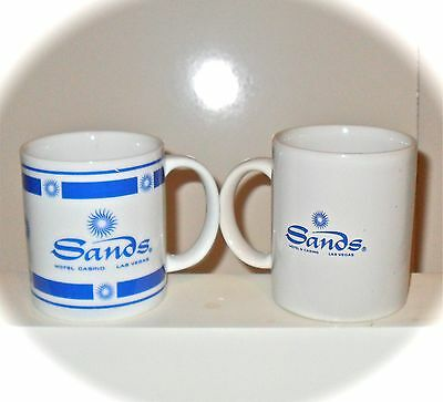 Las Vegas Sands Vintage Hotel Collectible Casino Ceramic Coffee Cups Mugs