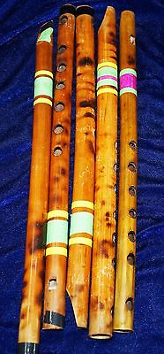 vintage wood 5  flute from india VERY GOOD CONDITION