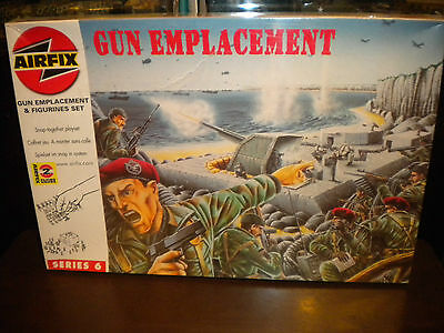 AIRFIX 1/72 WWII German GUN EMPLACEMENT w/Soldiers Diorama Accessory A06704
