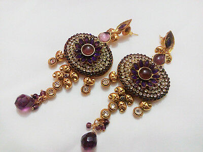 new indian fashion jewelry earring bollywood ethnic gold plated traditional
