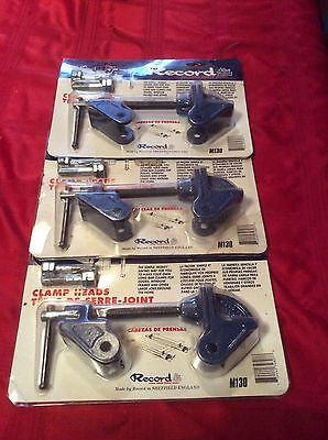 3 x Record M130 Clamp Heads