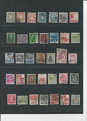 Japan - Selection Of Used Old Stamps - Jap1