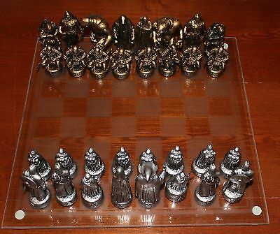 Lord of The Rings Chess Set with Glass Board