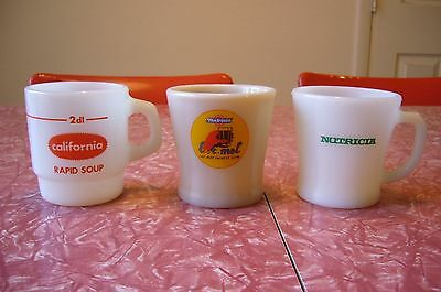 Fire King Anchor Hocking Mug Cup California RAPID SOUP Ivory NUTRICIA