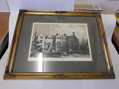 Framed Print Of Losely House Surrey With History 1845