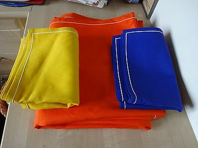 Vintage Retro 1970s LARGE Table Cloth + 8 Napkins Display Prop Psychedelic