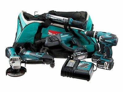 Makita Dlx6021M 18V 4.0Ah Li-Ion Cordless 6-Piece Kit Lxt