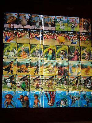 Woolworths Cards Dreamworks Heroes Full Set 42 cards Complete Set !!