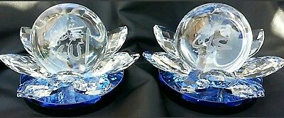 New Allah & Muhammad Crystal Cut Showpiece Best  Wedding Gift Or Home Decorative