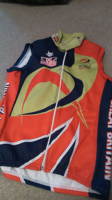 Great Britain Cycling sleeveless fleece jacket top size S *2
