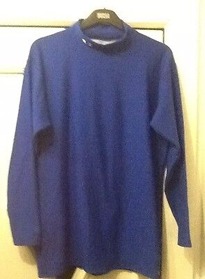 Mens COLDGEAR  Under Armour Blue Long Sleeve Sports Top Size 3XL