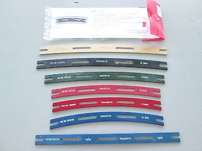 "HO OO tracksetta track guides for train layout 18"" 21"" 24"" 36"" 48"" 60"" straight"