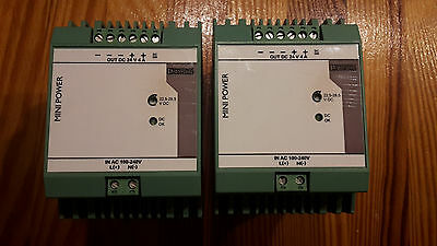 1 X Netzteil Phoenix Contact Power Supply 24V 4A DC Mini PS100-240AC DC90-350V