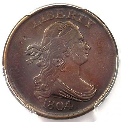 1804 Draped Bust Half Cent 1/2C C-10 - Certified PCGS XF Details EF - Rare Coin