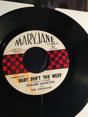 Edward Hamilton Baby Don't You Weep / Tell Me 70s Pressing Northern Soul