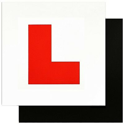 Zacro Fully Magnetic L Plates for New Drivers 2 Pack Learner Plate perfect ch...