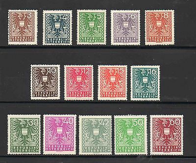 Austria - New National Arms - Stamps Selection X 14 MNH 1945