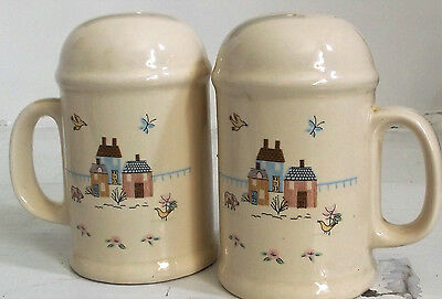 International China 7774 Heartland Salt & Pepper Shaker Set Handles StoveTop